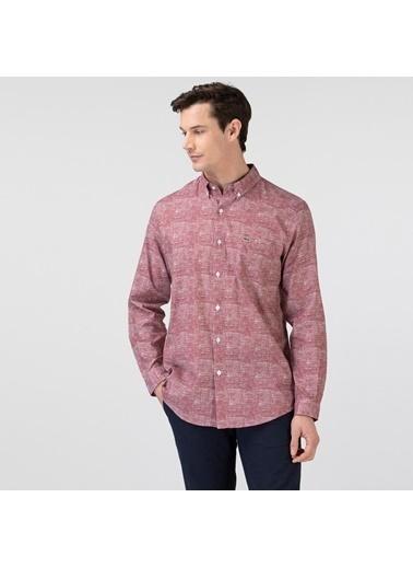 Lacoste Erkek Regular Gömlek CH0105.05R Bordo